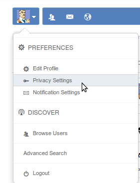 change privacy settings